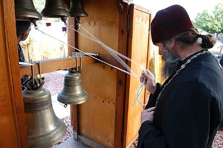 Photo of ringing church bells